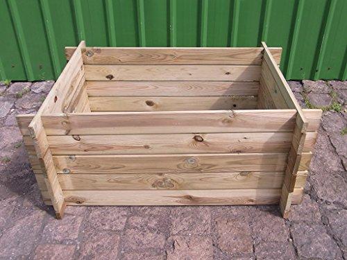 stabiler Holzkomposter Komposter Pflanzbeet Kräuterbeet Hochbeet 120 x 85 x 52