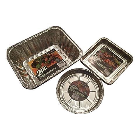 Foil Pie plats–barquettes–jetables en feuille d'aluminium cuisson et à rôtir