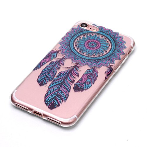 Custodia per iPhone 8, Custodia per iPhone 7 ,JIENI Trasparente Protezione Morbido Skull misteriosa TPU Bumper Cover Silicone Flessibile Case per iPhone 8 et iPhone 7 XS67