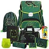 Spirit - Panther - Wild Cat Leicht-Schulranzen-Set Start 9teilig mit Sporttasche und Regensicherheitshülle - Heftbox und Füller GRATIS
