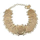 arabo bracciale monete color oro braccialetto Islam mediorientale catena gioielli Africa Gift