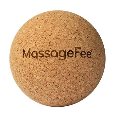 Fußmassagegerät Faszienball Massageball aus Kork. Selbstmassage von Triggerpunkten & Faszien der Füße, Waden, Gesäß, Nacken, Schulter & Rücken. -