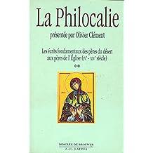 La philocalie, tome 2 : Plan de l'oeuvre à sortir