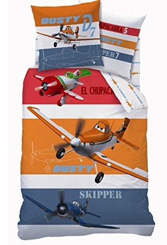 COPRIPIUMINO Set Letto PLANES Chupacabra Dusty Skipper 160x200cm 100% COTONE Disney ORIGINALE