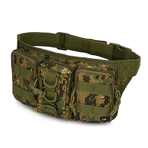 Camouflage Military Taille Tasche Camping Wandern Tactical Tasche Radfahren Armee MOLLE Jungle Digital
