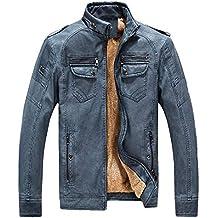 5aa08460f30fe Amazon.es  chaqueta cuero hombre - Azul