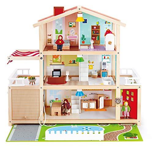Hape- Casita de muñecas Mansion Familiar (Barrutoys E3405)
