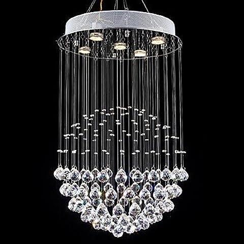 ZSQ LED lampadari di cristallo lampade 5 luci Argento Moderno Rotonda trasparente Canpoy K9 Crystal (277 Di Cristallo)