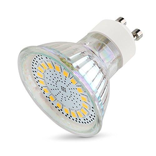 Preisvergleich Produktbild GU10 LED Glühbirnen 5w 4 Pack, Leuchtmittel mit 18 LED, Warm Weiß 3000k 350 Lumen, 120° Abstrahlwinkel
