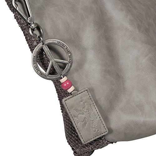 Fritzi aus Preußen Damen Andrina Business Tasche, 8.5x31x54.5 cm fog grau