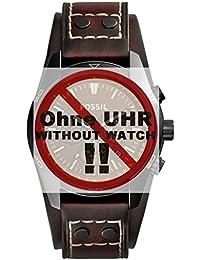 Fossil Uhrband Wechselarmband LB-CH2990 Original Ersatzband CH 2990 Uhrenarmband Leder 22 mm Braun