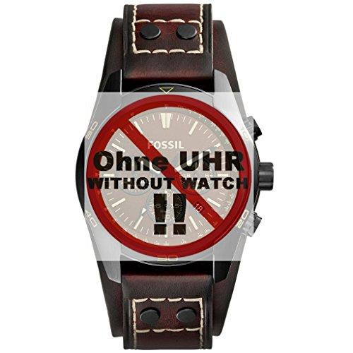 Fossil Uhrband Wechselarmband LB-CH2990 Original Ersatzband CH 2990 Uhrenarmband Leder 22 mm Braun (22 Mm Fossil Watch Band)