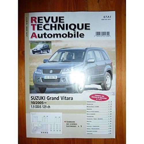 REVUE TECHNIQUE AUTOMOBILE - RTA SUZUKI GRAND VITARA dep 10/2005 1.9 DDIS 129cv RTAB0717 - juin 2008