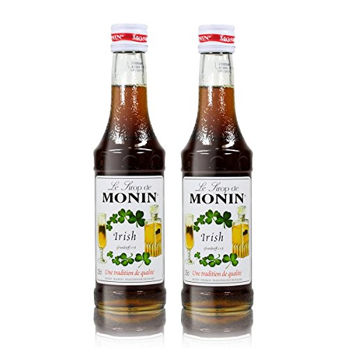 2x Monin Irish Cream Sirup, 250 ml Flasche - für Cocktails, zum Kaffee oder Kochen