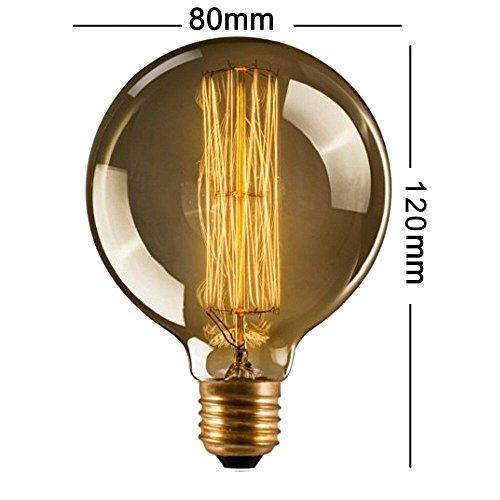 CMYK® Antike Edison Vintage MasterGlobe Glühbirne (40W, E27, 220-240V) Ideal für Nostalgie und Retro Beleuchtung -