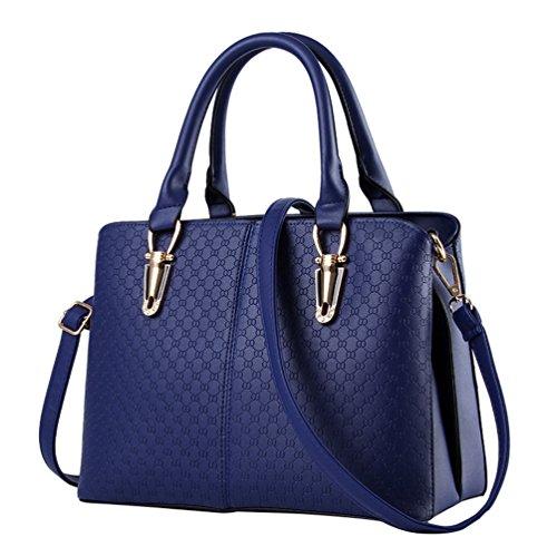YAANCUN Damen Klassische Elegant Handtaschen Kunstfell Handtaschen Handtasche Abend Partei Saphir