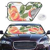 Dress rei Car Windshield Sun Shade Watercolor Peaches Small Keep Your Vehicle Cool UV Sun Heat Reflector 51.2x27.5 Inchs
