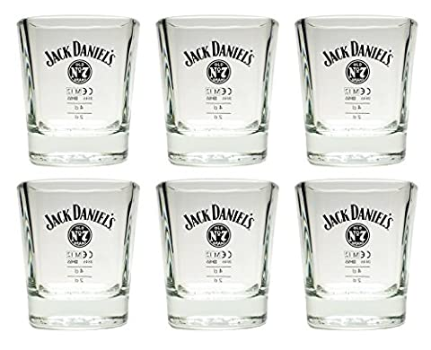 6 Jack Daniels Whisky Tumbler No 7 Bar Gläser Glas 2 cl 4 cl