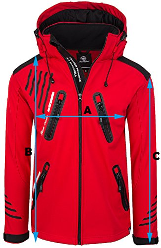 Rock Creek Herren Softshell Jacke Outdoorjacke Windbreaker Übergangs Jacke H-140 [Neonyellow S] - 4