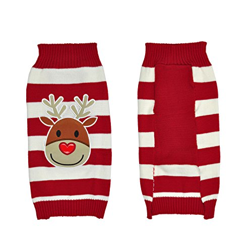 LucyGod Dog Jumpers Christmas Sweaters Winter Knitwear Xmas Pet Clothes Kostüm Outfit (M, ()