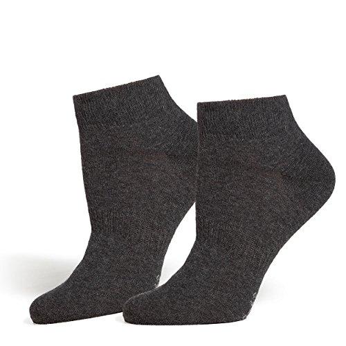 SaferSox Sneaker Socken Anthrazit / Grau, 39-42 (Anti Geruch Socken)