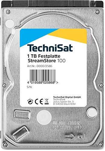 TechniSat Streamstore 100 2,5 Zoll SATA III Festplatte mit 1 TB Speicherkapazität, passend zu TechniCorder ISIO STC, TechniCorder ISIO SC, Sonata 1