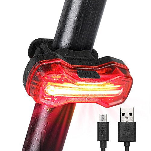 Albrillo Luz Trasera para Bicicleta - Potente LED Faro Trasero Bici, Recargable USB, Muy Luminoso, Impermeable y Fácil de Instalar, Roja Luz de Cola, para Máxima Seguridad de Ciclismo