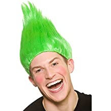Peluca Troll Unisex para Adultos - Accesorio verde de disfraces