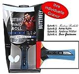 Ludomax Timo Boll Black Tischtennisschläger Butterfly Edition mit Geschenk Gravur