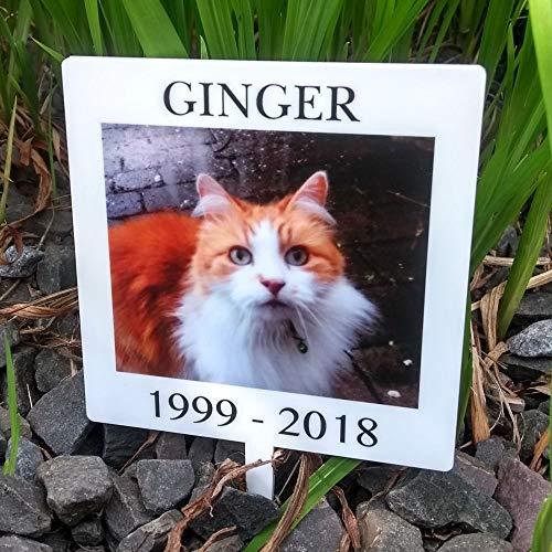 Memorial Plaque. Placa Conmemorativa. Estampado Personalizado Mascota 10 cm x 10 cm. Color Completo. Placa de acrílico para Gato, Perro, Conejo, cobaya, hámster, Gerbil.