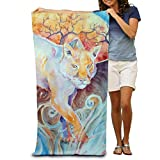 lilihome Bath Beach Towel Sun Panther Painting Soft 31