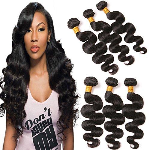 Dai Weier Echthaar Tressen Brasilianische Naturliche Body Wave Locken 3 Bundles Virgin Hair 100% Real Human Hair Lange Cheap for Black Women 16 18 20 zoll -