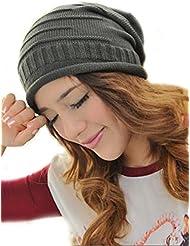 Demarkt Damen Herren Unisex Fashion Winter Stricken gehäkelt Wolle Ski Slouch Long Beanie Mütze Kappe Hut