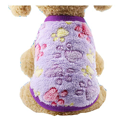 Morbuy Hund Katzen Welpe Kostüm Kapuzenpullis, Haustiere Pullover Sweater Ohren Halloween Haustier Kostüme Nettes Cosplay für Kleine Katzen Welpen (Minions Kostüm Lila)