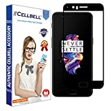 #9: CELLBELL® OnePlus 5 (5D)(BLACK) Full Body Premium Quality Tempered Glass Screen Protector With FREE Installation Kit.