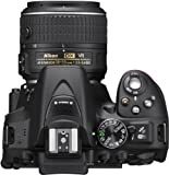 Nikon D5300 SLR-Digitalkamera (24,2 Megapixel, 8,1cm (3,2 Zoll) LCD-Display, Full HD, HDMI, WiFi, GPS, AF-System mit 39 Messfeldern) Kit inkl. AF-S DX 18-55 VR II Objektiv schwarz - 7