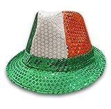Islander Fashions Hommes Sequin Gangster Chapeau Unisexe Fedora Trilby Sequin Chapeau Fantaisie Robe Accessoire Irlandais Trilbay Unique Taille