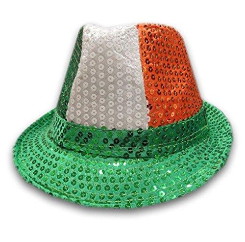 ns Pailletten Gangster Hut Unisex Fedora Trilby Pailletten Hut Kost�m Zubeh�r Irish Trilbay One Size (Irish Fedora)