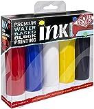Essdee Premium Quality Block Printing Ink (Pack of 5 Primary Colours)