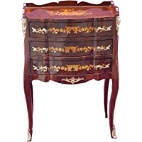 Comparador de precios Casa-Padrino Baroque chest of 3 drawers inlaid Brown H 82 cm, W 55 cm - Model Mahogany - bedside table - precios baratos