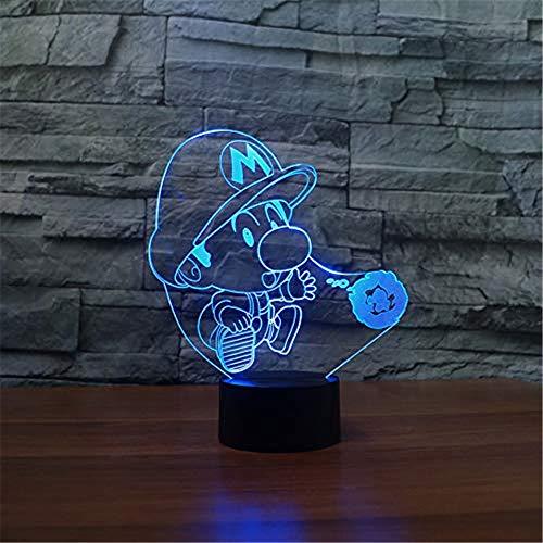WJPDELP-YEDE 3D LED Comic-Figuren Nachtlichter USB 7 Farben -