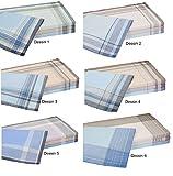 Betz 12 Stück Herren Stoff Taschentücher Set Größe 40x40 cm 100% Baumwolle verschiedene Dessins Farbe Dessin 1