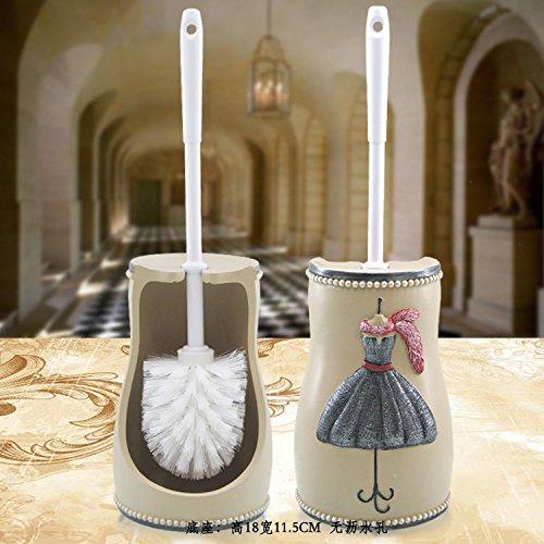 Lx.AZ.Kx WC-Bürste und Halter Toilettenbürste Modernes Design Längere Bürste Toilettenbürstenhalter Stilvolle Set kreativer Harze mit WC Weichen Bürste Paris Messestand - Wc-bürste Paris