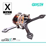 DroneAcc Quadcopter Carbon Fiber Frame GEPRC Sparrow 139MM FPV marco con RGB LED 3K marco de fibra de carbono 3 mm de espesor de apoyo RUNCAM Swift Mini y lente Micro Swift para Racing Quadcopter Drone (GEP-MX3) (139MM)