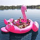 WEGCJU Schwimmende Reihe Riese Aufblasbare Flamingo Swimming Pool Inflatables Schwimmendes Floß Für Große Kinder Und Erwachsene Schwimmen Wassersport,540X470cm