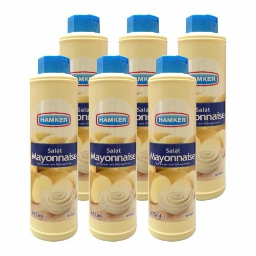 6x Hamker 'Salat Mayonnaise', 875 ml