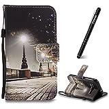 Slynmax Housse Wallet Coque Samsung Galaxy Core Prime G360 PU Cuir [Ville] Peint Mode...