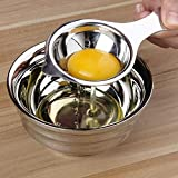 Luyao, separatore per uova, tuorlo bianco, in acciaio inox, utensile da cucina creativo Silver