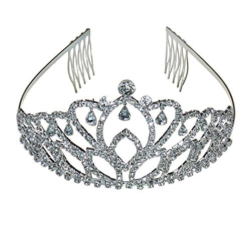 Coddsmz Prinzessin Krone Tiara Diamante Festzug Tiaras Stirnband Kopfstück Haar ()
