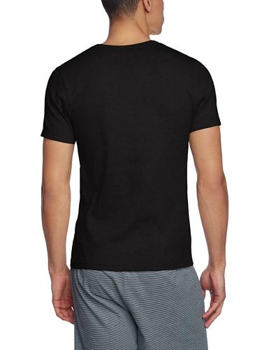 Skiny Herren Schlafanzugoberteil Hr. Shirt kz. A. Schwarz (BLACK 7665)